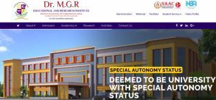 DRMGRDU - Dr. M.G.R. Educational And Research Institute
